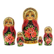 5 Poupées russes H14 peint main signé Matriochka Gigognes Nested Doll Matrioshka