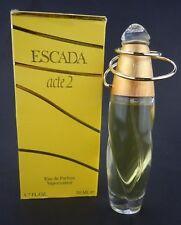 Escada Acte 2 Eau de Parfum Spray 1.7 oz 50 ml Vintage Used, Almost full