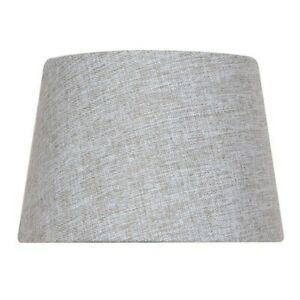 Mix and Match 10 inch x 7 inch Grey Round Accent Lamp Shade