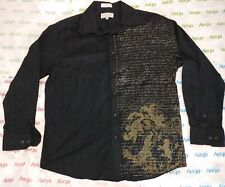 Men's Eighty-Eight Long Sleeve Shirt L Graphic Wings with Shield black rn#89970