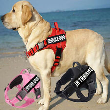 No-Pull Emotional Support Pet Vest With 2 Removable Patches Service Dog Harness