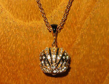 Russian FABERGE inspired ENAMEL Swarovsky Crystals BLACK CROWN EGG pendant GIFT