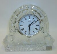 Etched Crystal Glass Mikasa Mantle Clock - Made in Germany