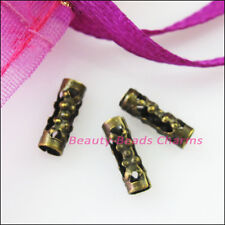 100Pcs Flower Tube Spacer Beads Connectors 3x9mm Gold Silver Bronze Plated