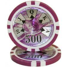 100 Purple $500 Ben Franklin 14g Clay Poker Chips New - Buy 2, Get 1 Free