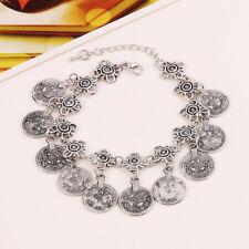 Women Tribal Ethnic Gold/Silver Coin Tassel Gypsy  Anklets Bracelet Boho Jewelry