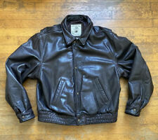 New listing Vintage Banana Republic 100% Genuine Leather Jacket Size 42 Button Down Full Zip