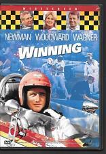 Universal WINNING, 1969 Sports Drama, Paul Newman, J Woodward, R Wagner USED DVD