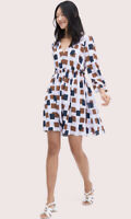 Kate Spade Geo Squares Mini Dress Size 6 Multicolor MSRP 378