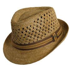 2624ee4829ad1 TOMMY BAHAMA   MEN RAFFIA STRAW FEDORA HAT L XL   NEW SUN SHADY CRUSHABLE