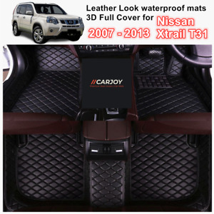 3D Moulded PU leather Waterproof Car Floor Mats for Nissan Xtrail T31 2007- 2013