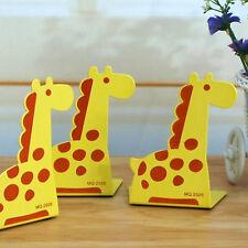 2X L-Shaped Bookend Anti-skid Giraffe Shelf Book Case Holder Home Office GT