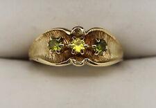 Unique VINTAGE 14K Yellow Gold Citrine & Peridot Ring Sz 9 (4.05g)