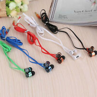 Stereo 3.5mm In Ear Headphone Earphone Headset Earbud for iPhone Samsung PC Hot
