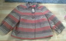 refc9)m&s jacket.size 14 browns circle pattern exc cond