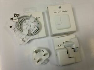  Genuine Apple 12W iPhone 5 6 7 8 10 X 11 12 13 Pro Max Charger Lightning Cable