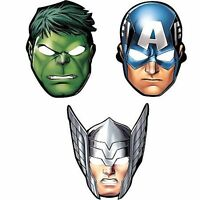 AVENGERS 3 ASSORTED DESIGNS BIRTHDAY PARTY SUPPLIES PARTY MASKS ( PACK OF 8 )