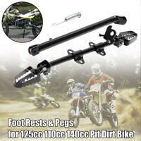 Side Foot Peg Footpeg Mount Rest Kick Stand Fits Pit Dirt Bike 110cc