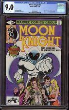 Moon Knight # 1 CGC 9.0 White (Marvel, 1980) Origin of Moon Knight, begin series
