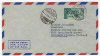 1949 Dec 17th. Air Mail Cover. Rome to Cleveland, Ohio.