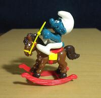 Smurfs Rocking Horse Smurf 40221 Rare Vintage Figure PVC 1981 Toy Figurine Peyo