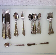 33 piece set United Silver Co. US17 stainless flatware