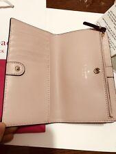 New Kate Spade Braylon Putnam Drive Leather Medium Wallet Black/Dolce Pink $139