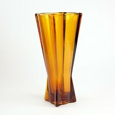 Anchor Hocking Desert Gold Atomic Rocket Glass Vase Vintage Mid-Century, Decor