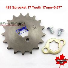 428 17 T 17mm Front Engine Sprocket Gear Pit Dirt Bike ATV Lifan YX 50cc-160cc