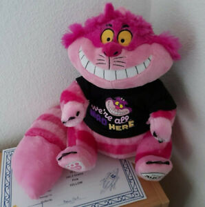 BUILD A BEAR ONLINE EXCLUSIVE: ALICE IN WONDERLANDS CHESHIRE CAT + T-SHIRT BNWT