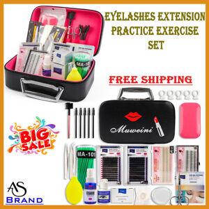 New Eyelashes Extension Practice Exercise Set Grafting Tools Kit Head Eye Makeup