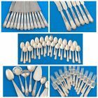 """1847 ROGERS BROS SILVERPLATE FLATWARE """"ANCESTRAL"""" PATTERN C.1924 82 Pieces USA"""