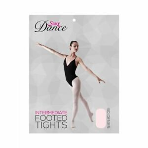 Silky Intermediate Fully Footed Dance Ballet Tights Adult sizes Theatrical Pink