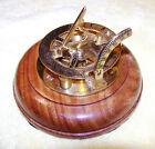 """VINTAGE: F.L. WEST. """"31, Lock Spur, FL. London"""" - Sundial Compass - EXCELLENT"""