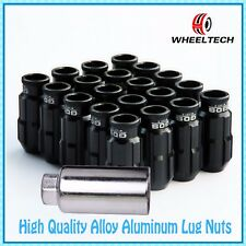 20X Black Aluminum tuner M12x1.5 50mm for Ford FIESTA FOCUS more Wheel Lock Nuts
