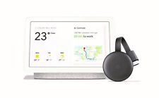 Google Home Hub Chalk and Chromecast 3rd Gen Bundle