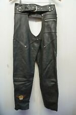 VINTAGE HARLEY DAVIDSON LEATHER MOTORCYCLE CHAPS SIZE L