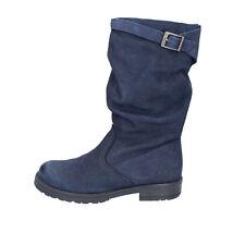 scarpe bambina HOLALA 33 EU stivali blu nabuk BT393-33