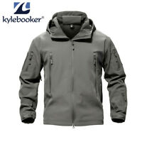 Men's Fishing Soft Shell Hunting Outdoor Jacket Waterproof Windproof Colthing