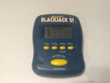 Radica Pocket Blackjack 21 1997 Handheld Electronic Game Tested and Working