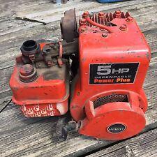 BRIGGS AND STRATTON 130202 0592 02  5 HP HORIZONTAL SHAFT ENGINE USED