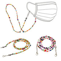 Face Mask Lanyards Acrylic Beaded Chain Reading Glasses Chain Neck Straps