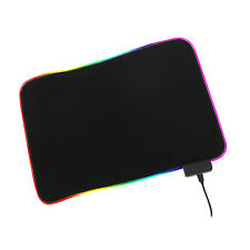 Colorful Gaming Mat RGB Black Mouse Lighting Adapted to PC Laptop Accessories