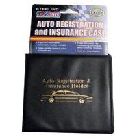 ESSENTIAL Car Auto Insurance Registration BLACK Document Wallet Holders 2 Pack -