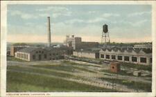 Lancaster PA Linoleum Works Factory c1920 Postcard