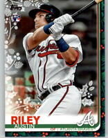 2019 Topps Holiday AUSTIN RILEY SP Photo Variation PRESENTS Braves RC #HW76