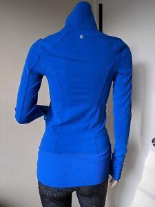 Lululemon, Women's Asana Define Jacket Pipe Dream Blue Royal Blue Yoga Size 4