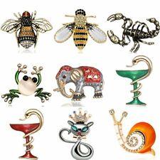 Fashion Animal Bee Frog Crystal Brooch Pin Wedding Bridal Women Costume Jewelry