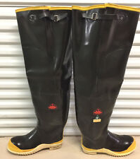 Rare Vintage Kaufman Black Diamond Rubber Hip Waders Boots US12 EU45 Watstiefel