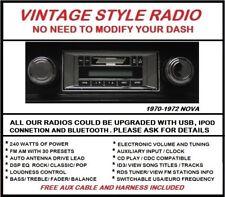1966 1967 Chevy Nova AM FM Stereo Radio , Auxiliary input , 240 Watts